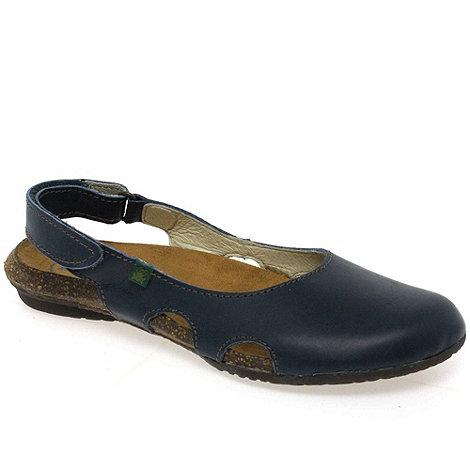 El Naturalista - Blue +Wakataua+ flat sling back mules