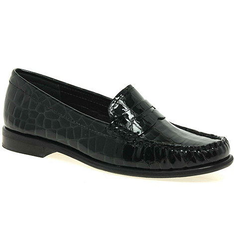 Maria Lya - Black patent +donna+ womens casual mocassins