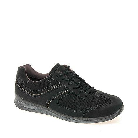 Ecco - Black +stride+ womens goretex casual trainers