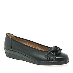 Gabor - Black Lesley Womens Casual Ballet Wedge Heel Shoes