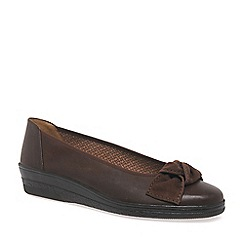Gabor - Brown Lesley Womens Casual Ballet Wedge Heel Shoes