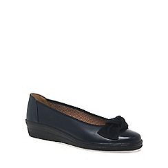 Gabor - Navy Lesley Womens Casual Ballet Wedge Heel Shoes