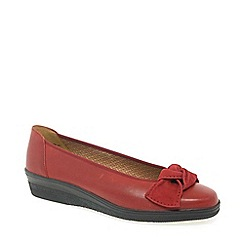 Gabor - Red Lesley Womens Casual Ballet Wedge Heel Shoes
