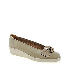 Gabor - Beige lesley womens casual ballet wedge heel shoes