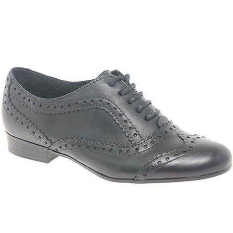 Marco Tozzi - Black +Jackson+ Leather Lace-Up Brogues