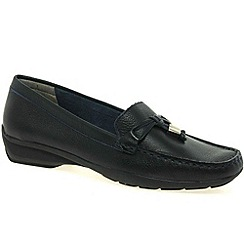 Maria Lya - Navy 'toggle' womens casual shoes