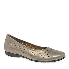 Gabor - Metallic 'ruffle' women's casual shoes