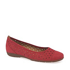 Gabor - Red 'ruffle' women's casual shoes