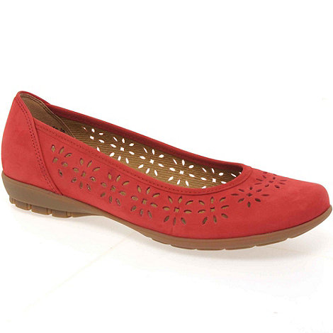 Gabor - Red boaz ladies casual ballet pumps