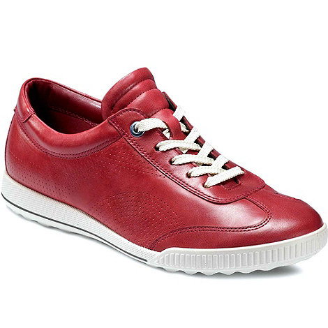 Ecco - Red +Fresh+ womens lace up casual shoes