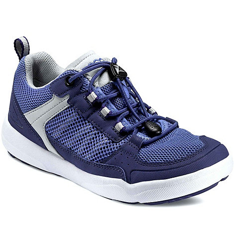 Ecco - Blue starfish womens lace up trainers