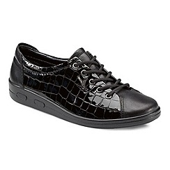 Ecco - Near black alsosoft lace up casual shoe 9473