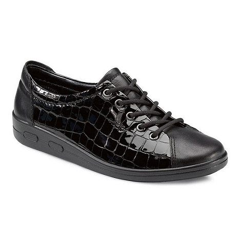 Ecco - Near black alsosoft lace up casual shoe 9473