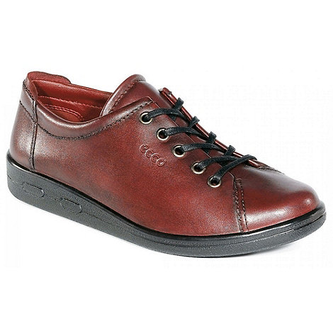 Ecco - Dark red alsosoft lace up casual shoe 9473