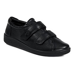 Ecco - Black alsostrap rip tape shoes