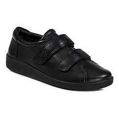 Ecco - Black alsostrap rip tape shoes