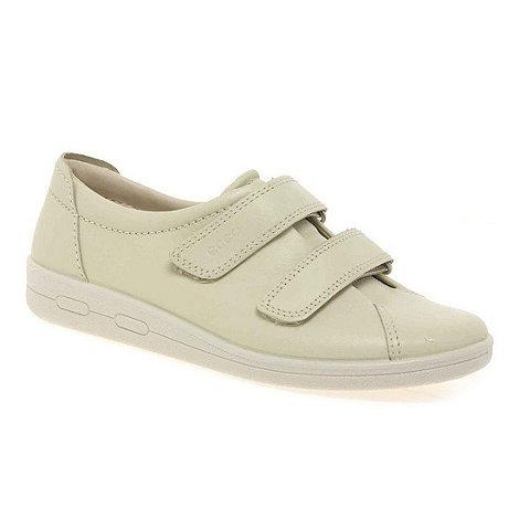Ecco - White alsostrap rip tape shoes