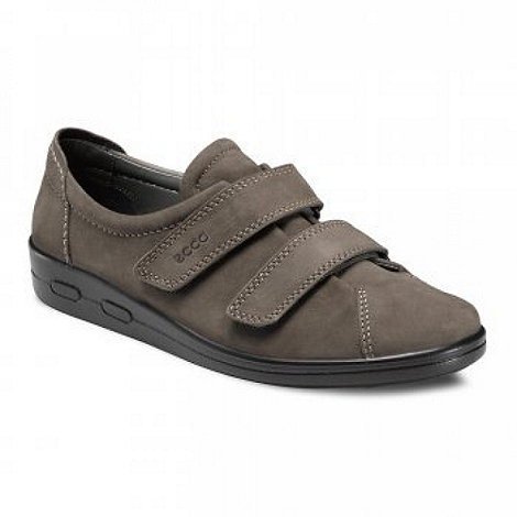 Ecco - Grey 'alsostrap' rip tape shoes