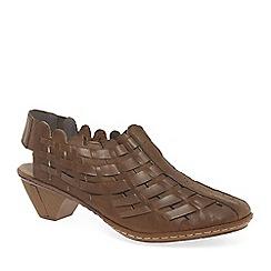 Rieker - Tan leather 'Sina' Leather slingback shoes