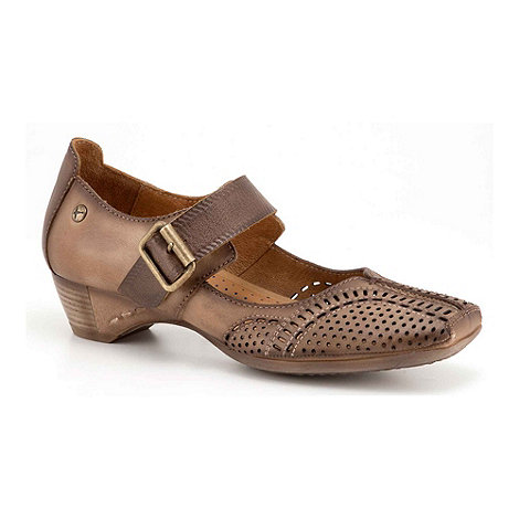 Pikolinos - Brown +Gandia+ Ladies Mary Jane Shoes
