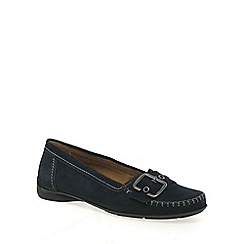 Gabor - Navy 'Ascari' wide fit casual shoes
