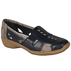Rieker - Near black 'denise' slip on vamp shoes