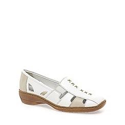 Rieker - Off white 'denise' slip on vamp shoes
