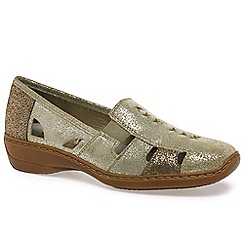 Rieker - Gold 'Denise' slip on vamp shoes