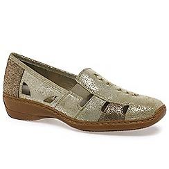 Rieker - Gold 'Denise' slip on vamp shoes
