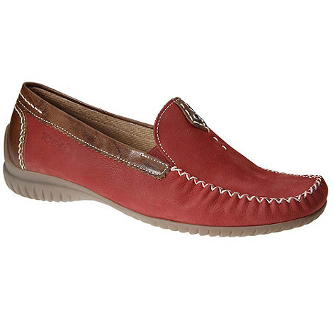 Gabor - Red +California+ moccasins