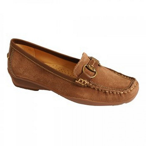 Maria Lya - Light brown +lucky+ moccasins
