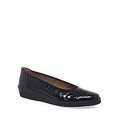 Gabor - Black Piquet Wide Fit Pumps