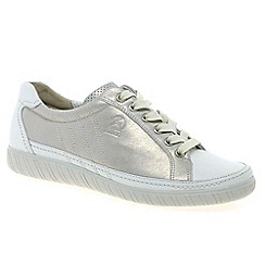 Gabor - Silver 'Amulet' wide fit ladies sneaker