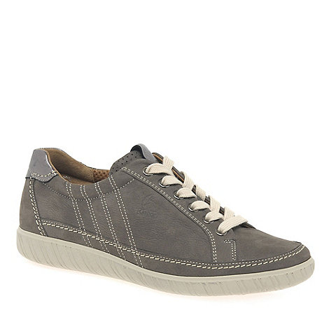 Gabor - Grey +amulet+ wide fit ladies sneaker
