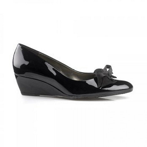 Van Dal - Black Lille Leather Wedge Wide Fit Court Shoe