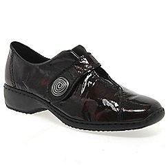 Rieker - Wine 'Swanky' Ladies Velcro Fastening Leather Shoes