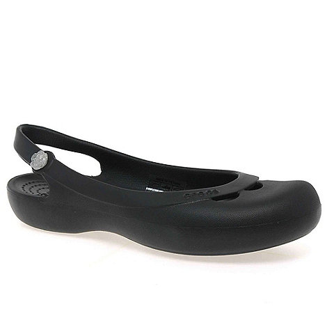 Crocs - Black 'jayna' ladies black sling back sandals