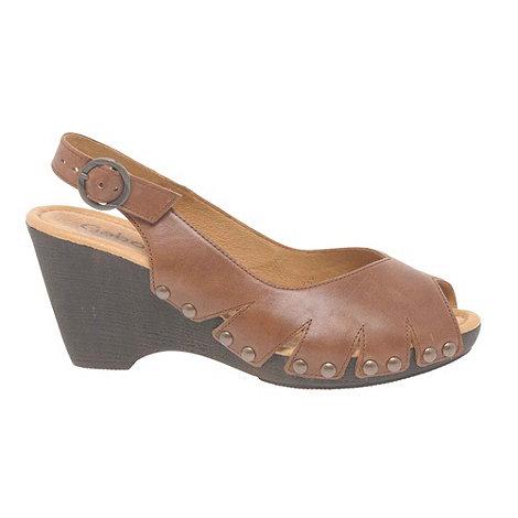 Gabor - Brown +Christabel+ Ladies Peep Toe Sling Back Sandals
