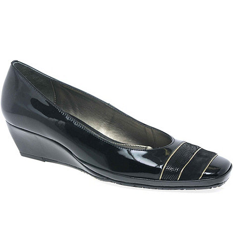 Van Dal - Black +Alava Ii+ Womens Leather Wedges