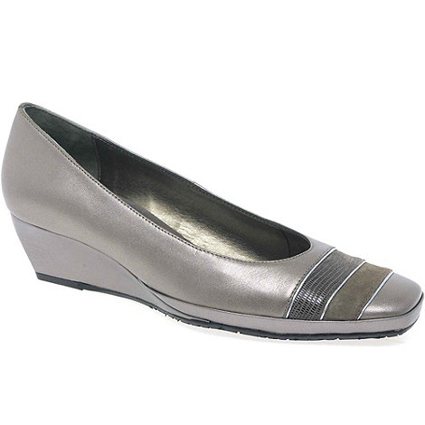 Van Dal - Metallic +Alava Ii+ Womens Leather Wedges