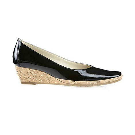 Van Dal - Black Patent +Palawan+ Wedge Court Shoes