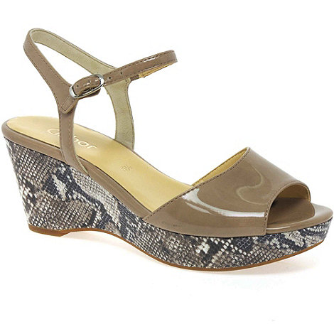 Gabor - Beige +infinite+ womens wedge heeled sandals