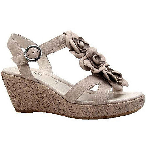 Gabor - Taupe ingleby womens wedge heeled sandals
