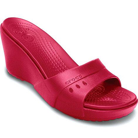 Crocs - Cerise +kadee+ wedge womens wedge heeled mules