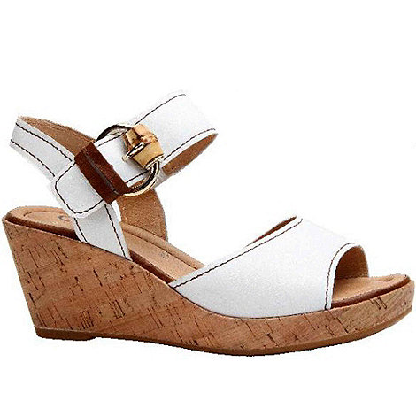 Gabor - White dover womens wedge heeled sandals