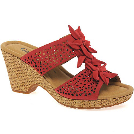 Gabor - Red +pickwick+ womens wedge heeled sandals