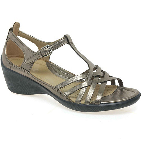 Ecco - Metallic +Sense+ womens casual buckle fastening sandals