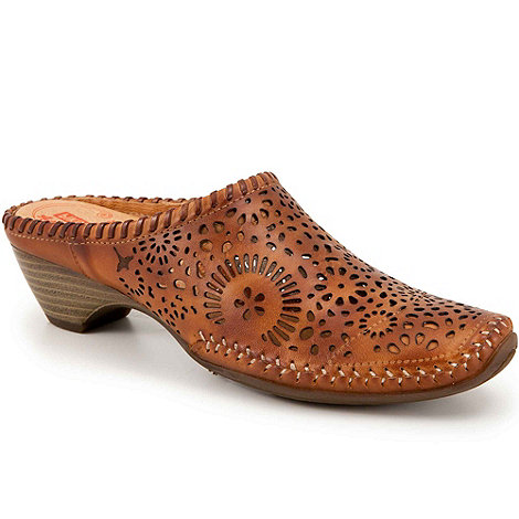 Pikolinos - Brown +Tabarca+ womens leather mules