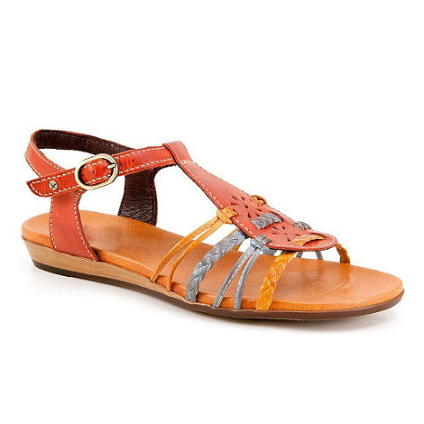 Pikolinos - Red +alice+ womens buckle fastening sandals