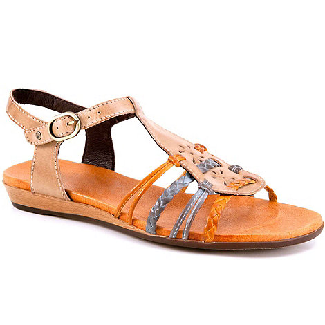 Pikolinos - Taupe alice womens buckle fastening sandals